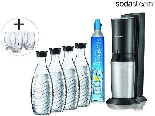 SodaStream Crystal 2.0 + 4 Karaffen und 4 Gläser für 105,90€ inkl. Versand