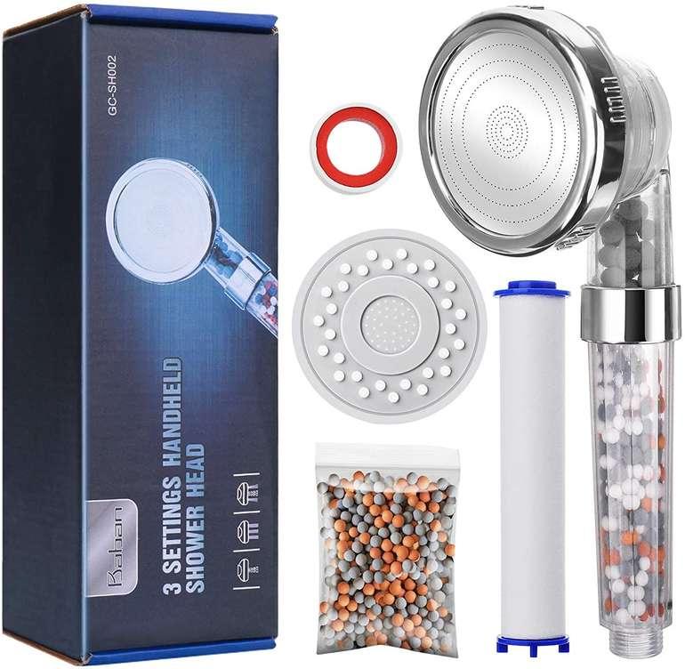 Baban Filter Duschkopf mit Drei-Wasser-Modus für 9,79€ inkl. Prime Versand (statt 14€)