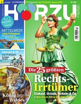 1 Jahr Hörzu TV-Zeitschrift für 119,60€ + 120€ BestChoice-Gutschein!