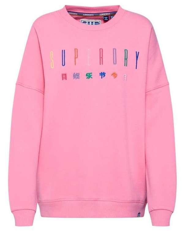 Superdry Sweatshirt 'Carly Carnival' Pink für 29,67€ inkl. Versand (statt 41€)