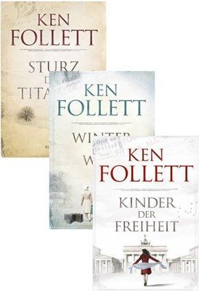 Ken Follett: Die Jahrhundertsaga (komplett, drei Bände) für 22,99€ (statt 39€)