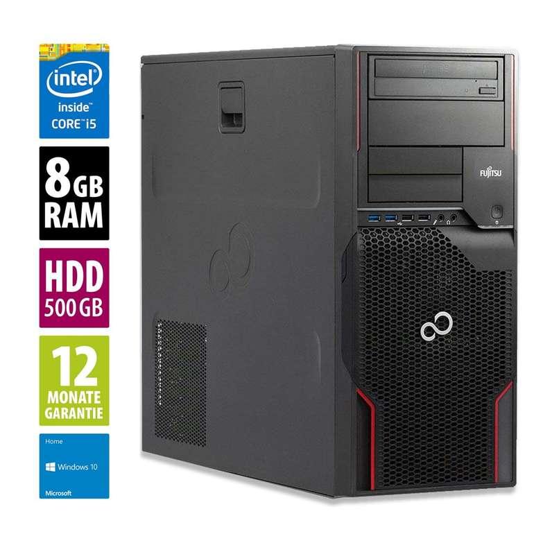 Fujitsu Esprimo P700 MT - Core i5-2400 mit 3,1 GHz, 8GB RAM, 500GB HDD & Win10Home für 81,75€
