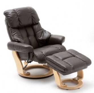 MCA Echtleder Relax-Sessel Calgary mit Fußhocker für 384€ inkl. Versand