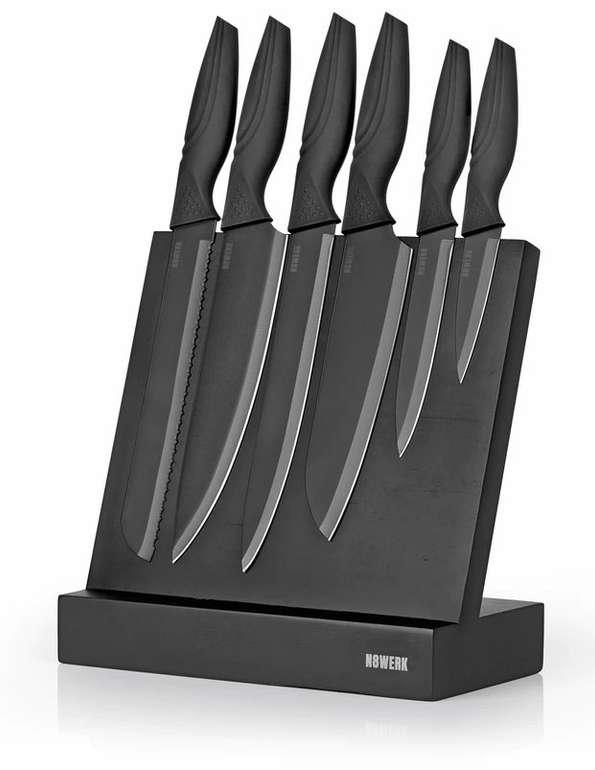 N8WERK Messerset & Messerblock in der Midnight Edition - 7-teilig für 29,90€ inkl. Versand (statt 40€)