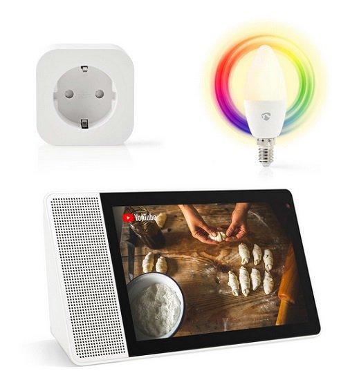 "Bundle: Lenovo Smart Display 10.1"" Full-HD (Google Assist.) inkl. WiFi Smart Plug & Nedis E14 Lampe für 149€"