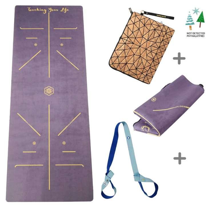 waschbare GOLDEN® Reise Yogamatte 1/16 Zoll für 28,80€ inkl. Versand (statt 46€)