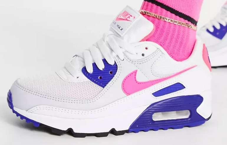Nike Air Max 90 Damen Sneaker in Pink/Blau für 78,60€ inkl. Versand (statt 100€)