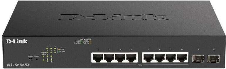 D-Link 10-Port Gigabit Smart Managed Switch (DGS-1100-10MPV2) für 153,49€ inkl. Versand (statt 215€)