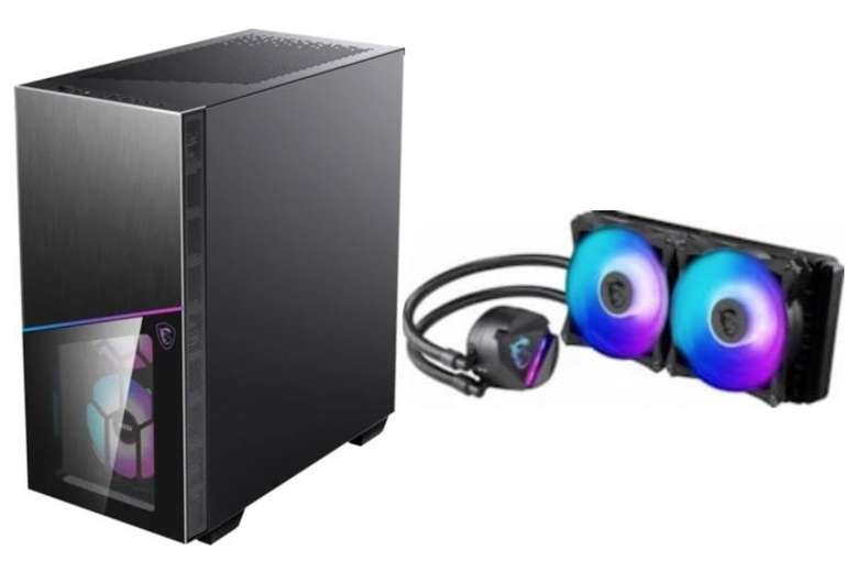 MSI MPG Sekira 100R PC-Gehäuse + MSI MAG CoreLiquid 240R AiO-CPU-Wasserkühlung für 169€ (statt 198€)