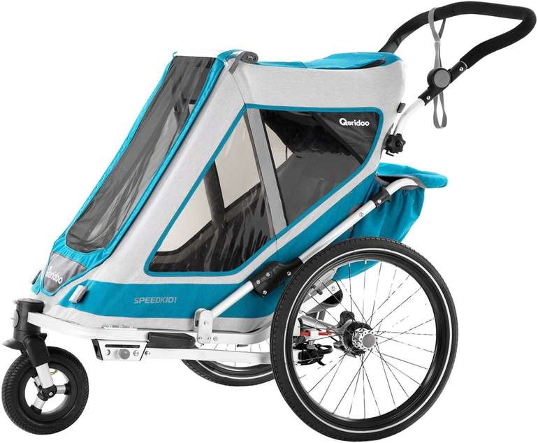 Qeridoo Kinderfahrradanhänger Speedkid1 Petrol für 291,19€ inkl. Versand (statt 347€)