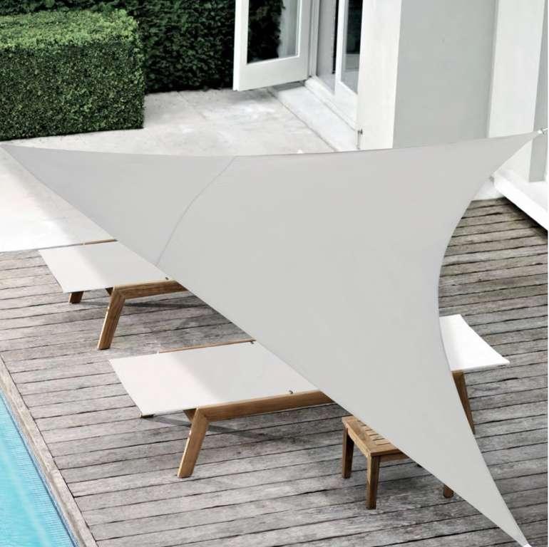 """En.casa Sonnensegel """"Cosenza"""" - Sonnenschutz Dreieckig (400 x 400 x 400cm) für 19,79€ (statt 22€)"""