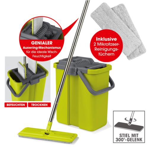 CLEANmaxx Bodenwischer Wischmop-Set für 28,99€ (statt 40€)