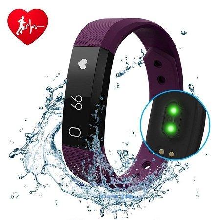 DIWUER - Fitness Tracker mit Herzfrequenz-Monitor & Vibration für 12,95€