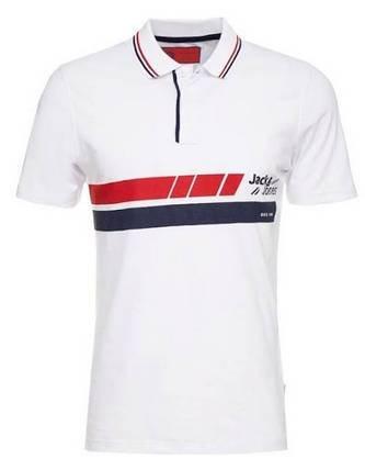 Jack & Jones Poloshirt in blau/ rot /weiß für 13,52€ inkl. Versand
