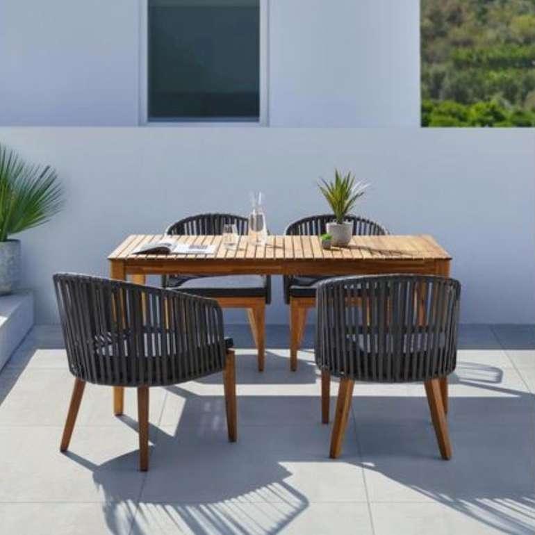 5-tlg. Gartentischgruppe Viola aus Akazienholz (Tisch + 4 Stühle) für 489,20€ inkl. Versand (statt 599€)