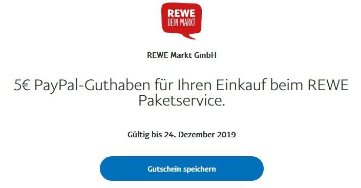 Paypal Gutschein REWE 2