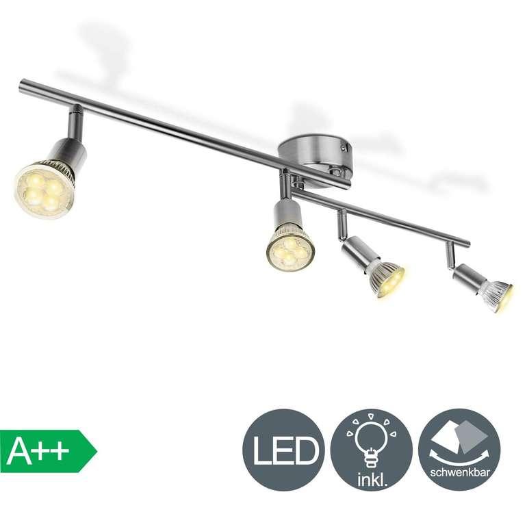 Hengda 4-flammiger LED Deckenstrahler (GU10, warmweiß, EEK: A++) für 15,59€ inkl. Versand (statt 24€)