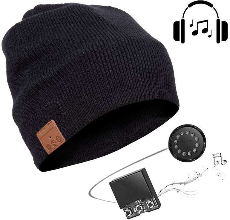 Seenlast drahtlose Bluetooth-Mütze mit eingebauten Lautsprechern + Mikrofon für 11,99€ (Prime)