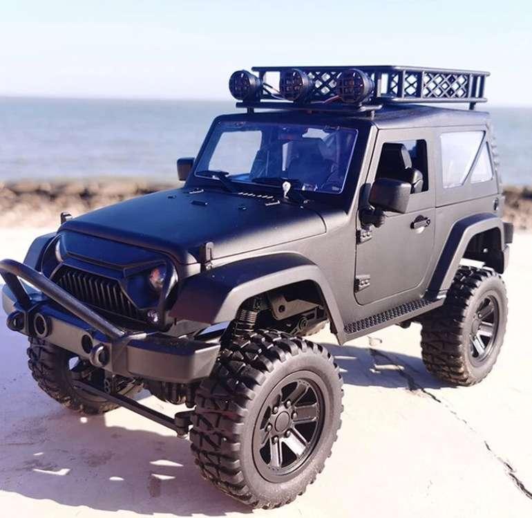 JY66 Jeep RC Car (1:14, bis 18km/h, Steigungen bis 45°, 20-30min Akku, 2.4GHz-Fernsteuerung) für 38,85€