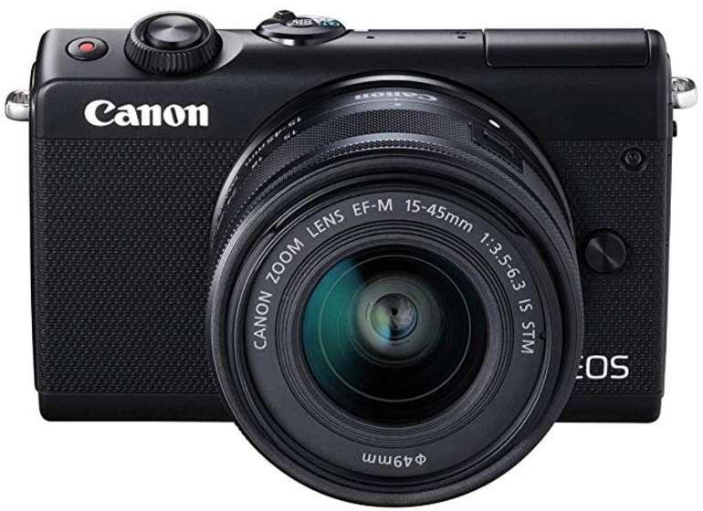 Canon EOS M100 Systemkamera (24.2 Megapixel mit Objektiv, WLAN, NFC, Bluethooth) für 249€ (statt 312€)