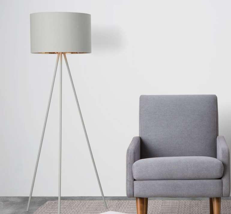 Tris Tripod-Stehlampe in Mattgrau/Kupfer für 65€ inkl. Versand (statt 129€)