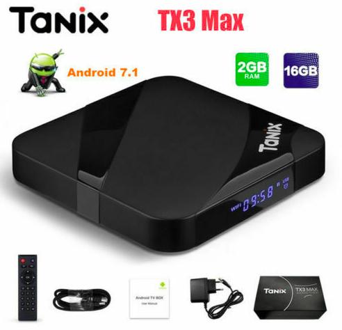 Tanix TX3 Max Smart Android 7.1 TV-Box (2GB RAM, 16GB Speicher) für 31,99€