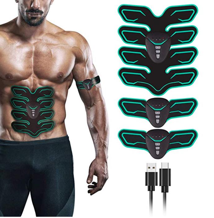 Fylina EMS Trainingsgerät bzw. Muskelstimulator mit 8 Pads ab 17,99€ (Prime)