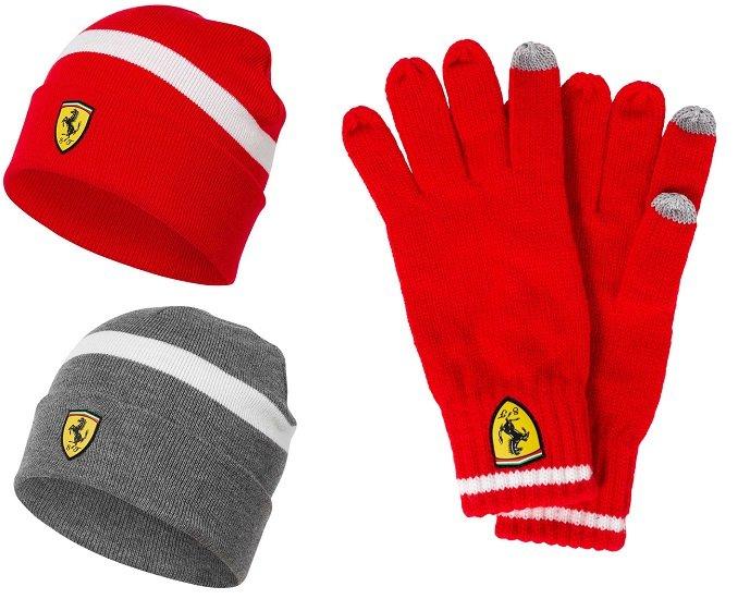 Scuderia Ferrari Knitted Beanie Wintermütze + Winterhandschuhe für 14,61€ (statt 40€)