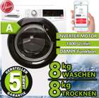 Hoover WDXOAG488AHB-84 - Waschtrockner (8kg + 8kg) mit 1400 U/Min. für 389,99€ (statt 450€)