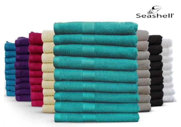 9x Seashell Handtücher - Luxor Hotel Deluxe Collection (50x100cm- 500g/m2) für 25,90€ (statt 50€)