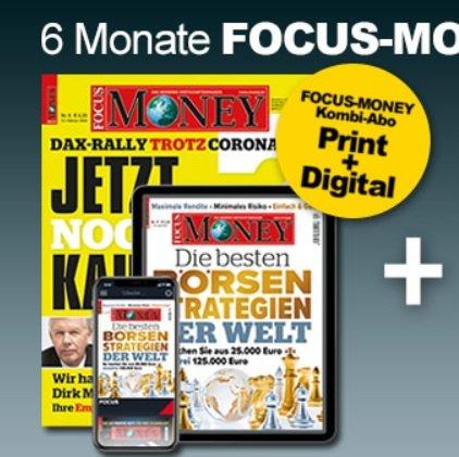 Halbjahresabo: Focus Money inkl. Digital Zugang für 114,40€ + 90€ Scheck