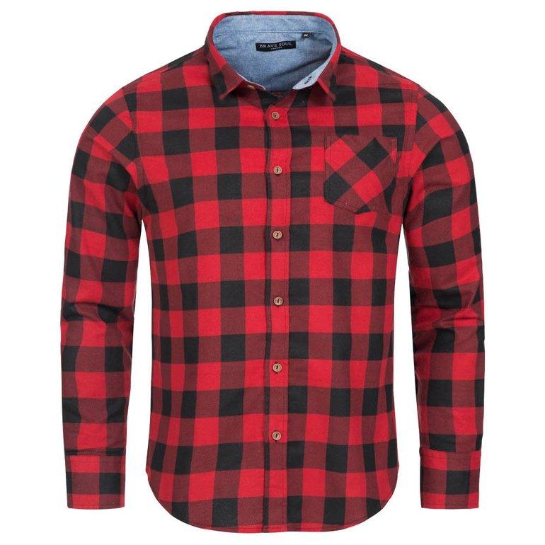 Brave Soul Jack Check Print Flannel Herren Karo Hemd für 6,66€ zzgl. Versand