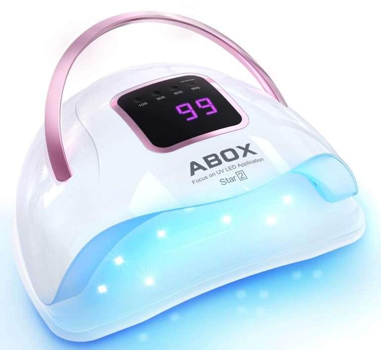 Abox Nagellampe - 72W UV LED Nagellampe mit LCD-Anzeige und Smart Sensor für 16,49€ (statt 24€)