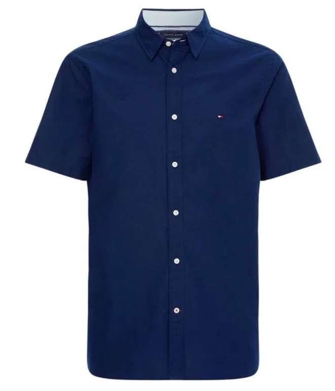 Tommy Hilfiger Grid Dobby Shirt Herren Hemd in Regular Fit für 41,70€ (statt 49€) – nur noch in S & M!