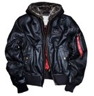 "Alpha Industries Lederjacke ""MA-1 D-Tec Leather"" für 311,96€ (statt 390€)"