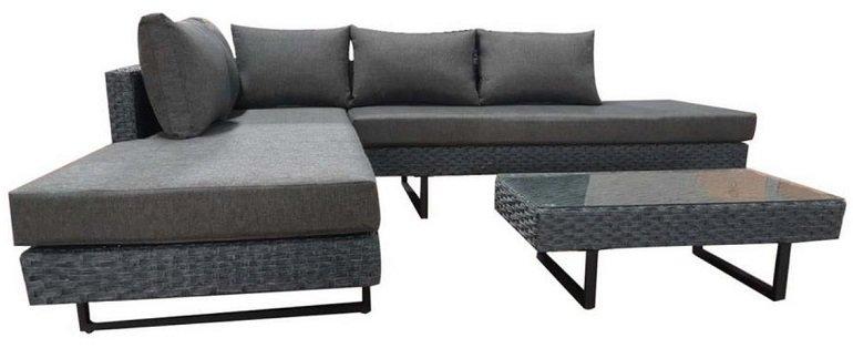 Bessagi Garden Loungegarnitur 'Raffaela' in Grau für 302,45€ inkl. Versand