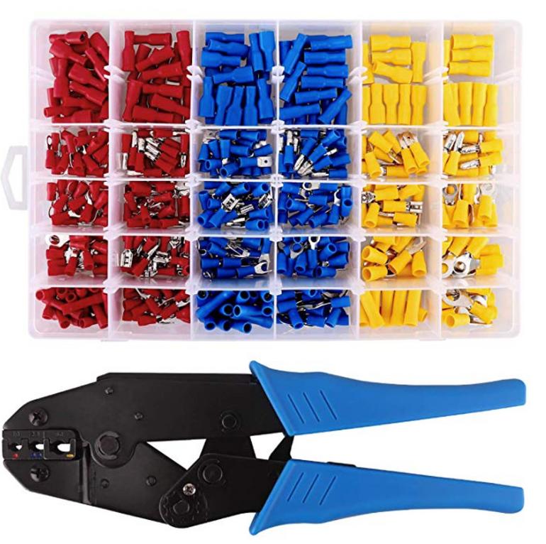 Maikasen MKS Crimpzange + 500 Stück elektrische Steckverbinder für 23,99€