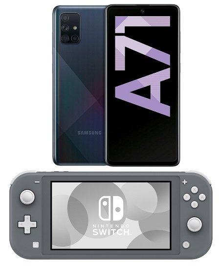Samsung Galaxy A71 + Nintendo Switch Lite (+29€) inkl. MD Vodafone Allnet-Flat mit 3GB LTE für 17,99€ mtl.