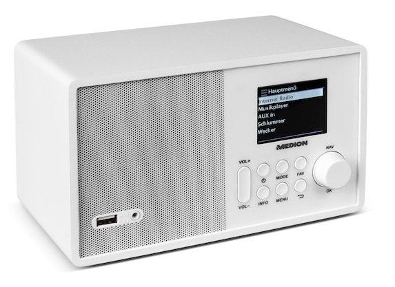 """Medion E85040 Internet-Radio (WLAN) mit 2,4"""" TFT-Display für 59,95€"""