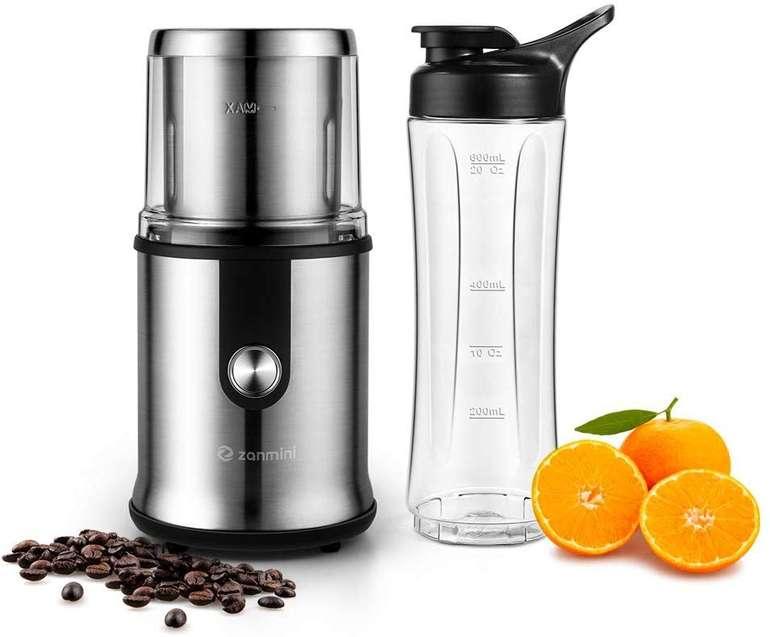 Zanmini Smoothie Mixer und elektrische Kaffeemühle für 23,99€ (statt 40€)