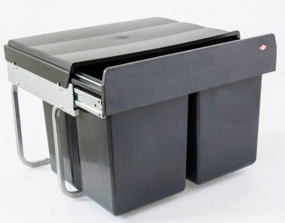 Wesco Double Shorty smart Abfalleimer 30 l (2x15 l) oder 20 + 10 l für 31,49€ (statt 54€)