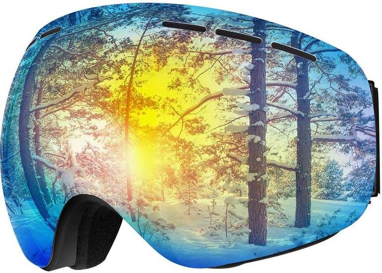 Omorc Skibrille mit UV-Schutz & Antibeschlag in 2 Farben für je 14,99€ (Prime)