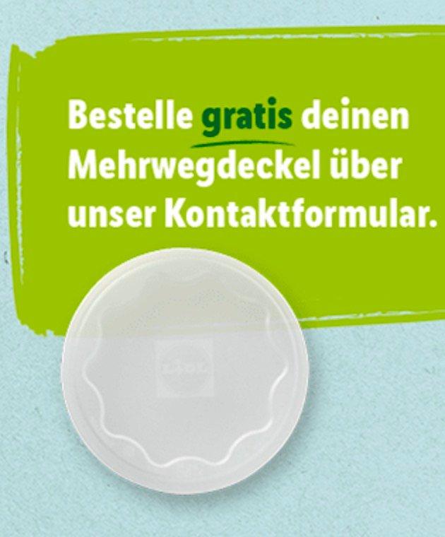 Mehrwegdeckel für Jogurt kostenlos bestellen (statt 1€)