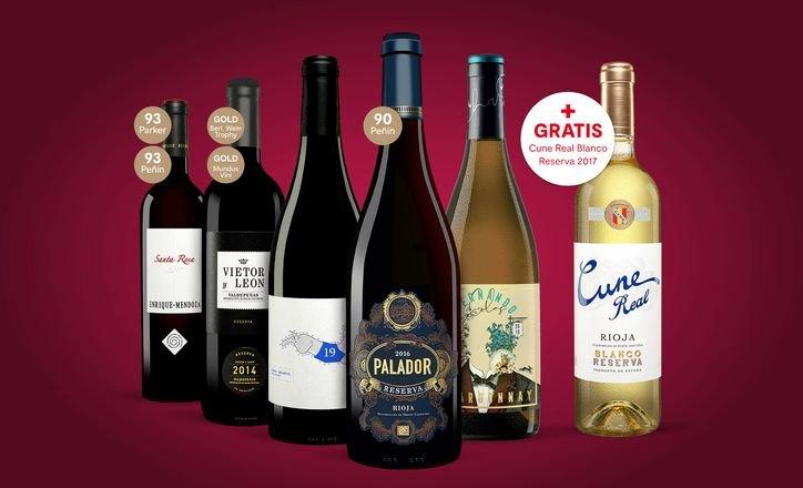 Vinos Weinprobe-Paket mit 6 Weinen & Online Weinprobe für 38,97€ (satt 70€)
