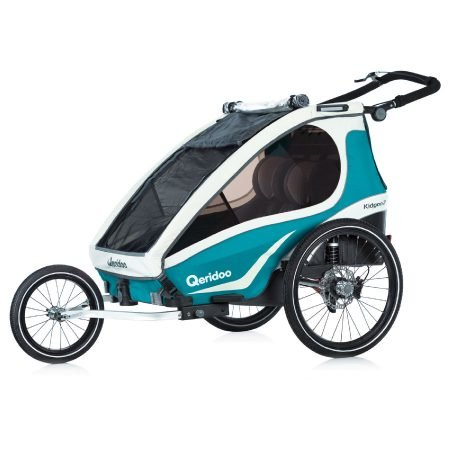 Qeridoo Kinderfahrradanhänger Kidgoo2 Sport in Aquamarin für 525,96€ inkl. VSK