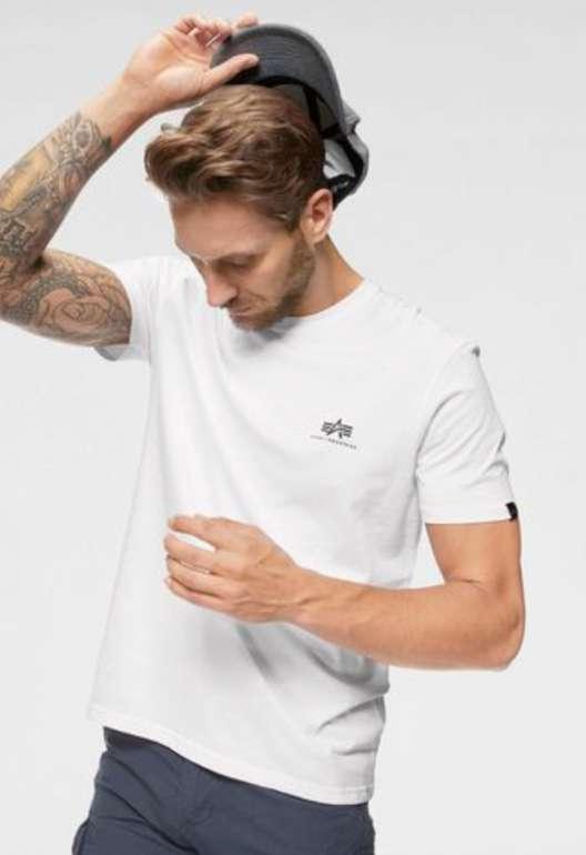 """Alpha Industries Rundhalsshirt """"Basic T Small Logo"""" (vers. Farben) für 17,34€inkl. Versand (statt 20€)"""