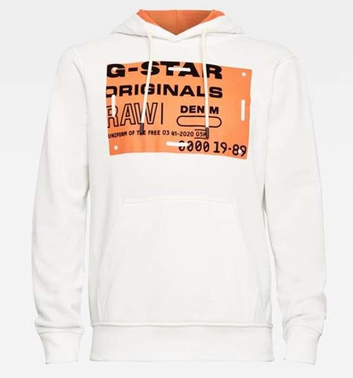 """G-star Raw Originals """"Hoodie 111"""" in Weiß für 69,99€ inkl. Versand (statt 99€)"""