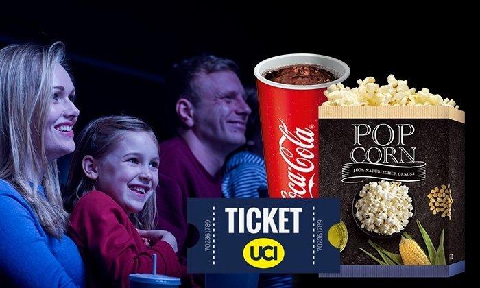 UCI Kinogutschein für 2D-Filme inkl. Popcorn und Getränk