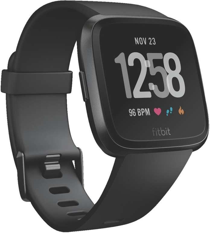 Fitbit Versa Smartwatch Black Aluminium für 99,95€ inkl. VSK (statt 137€)