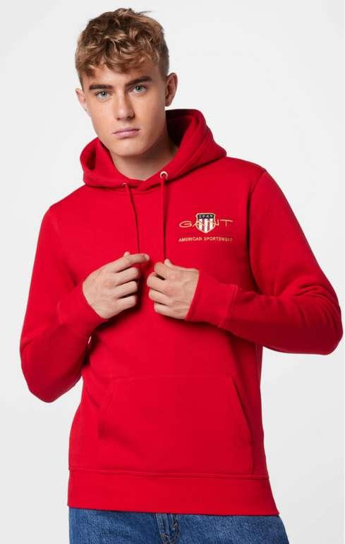 Gant Herren Sweatshirt in Rot/Gold für 69,93€ inkl. Versand (statt 85€)